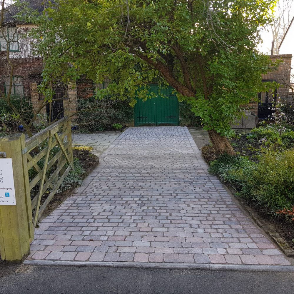 Driveway Installation using Country Cobble Block Paving- Balcombe, West Sussex