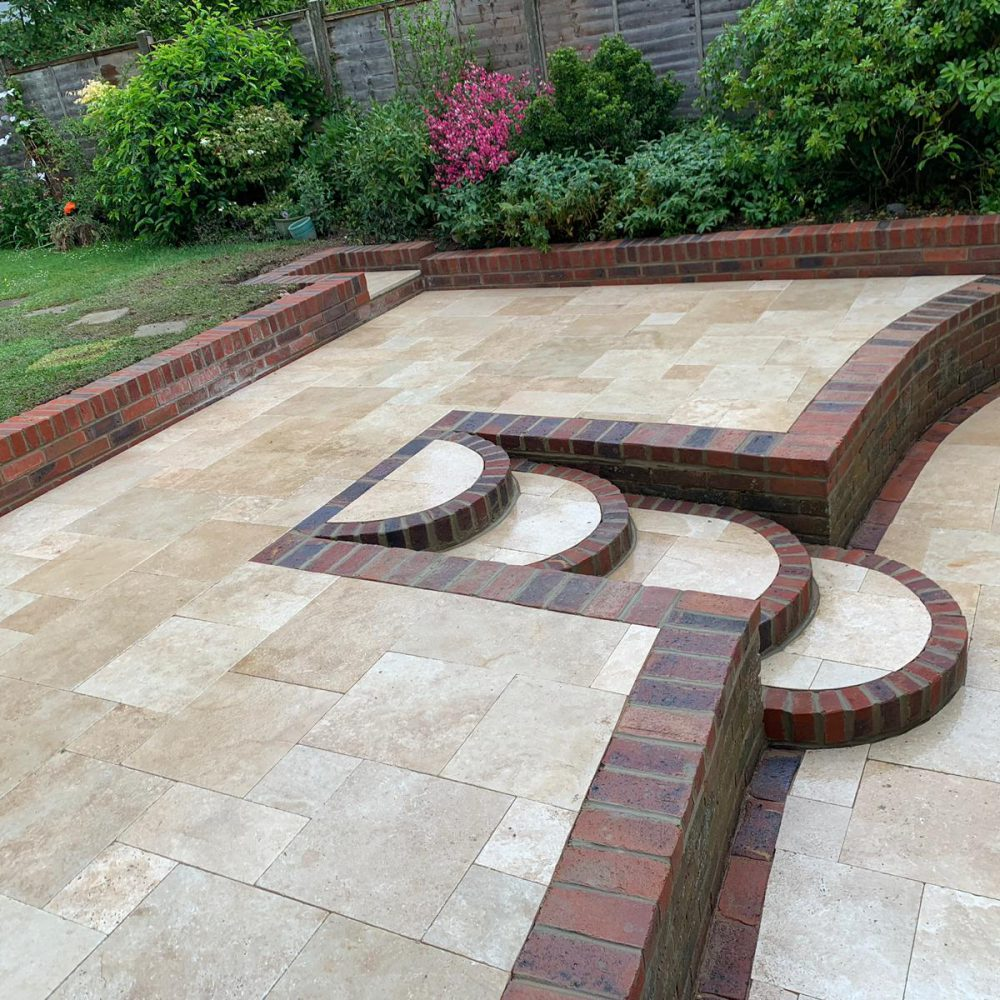 Patio Installation Burgess Hill- Travertine Classic