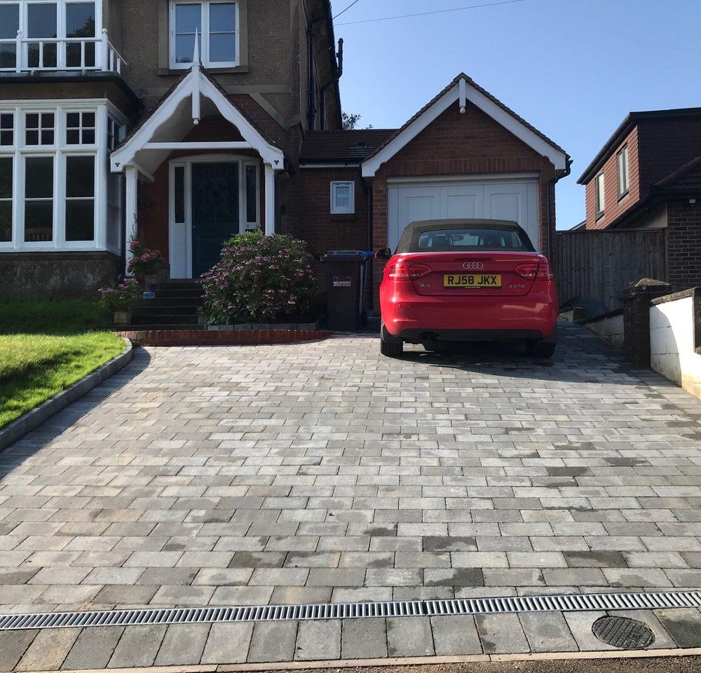 Driveway Installation in Hassocks- Drivesett Tegula Block Paving- Pennant Grey
