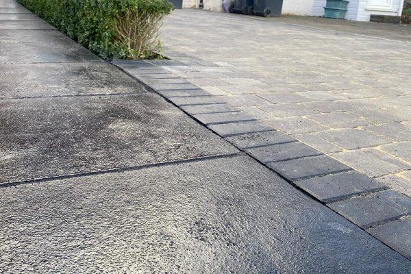 Burgess Hill Driveway Installation- Cobble Slate